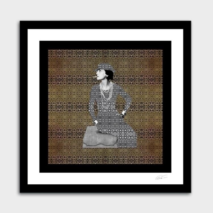 COCO - Portrait Coco Chanel Gol - zuzugraphics | ello