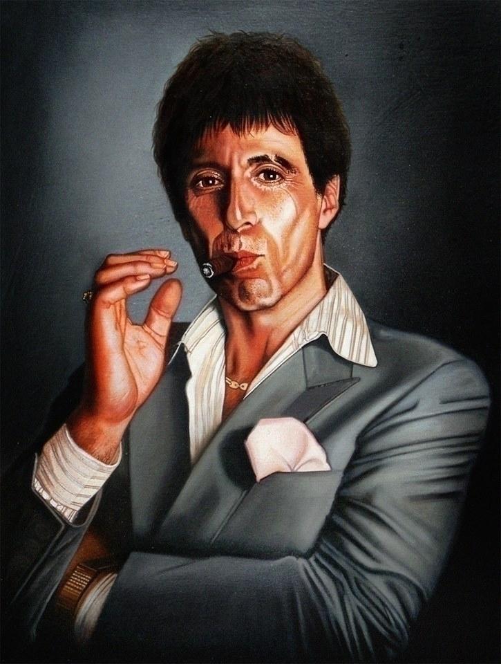 Antonio Tony Montana [Acrylics - christianromani | ello
