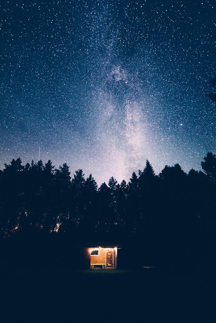 Sauna woods - stars, milkyway, skyscape - ppahka | ello