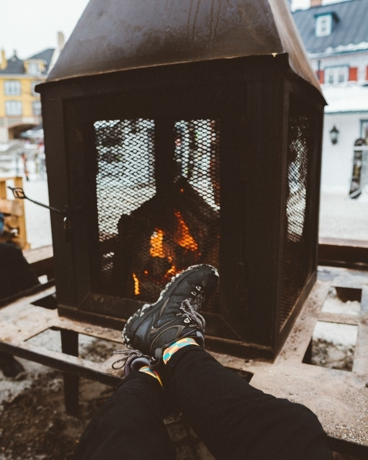 chilling fire - bonfire, camping - marcantoine_vachon | ello