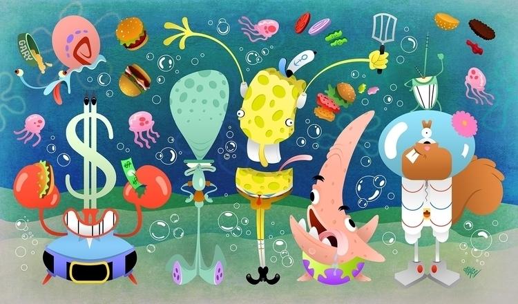 lives pineapple sea? Spongebob  - eliran_bichman | ello