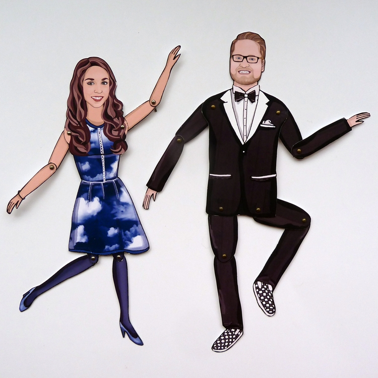 Couple | PERSONALIZED Paper Dol - miniyoudolls | ello