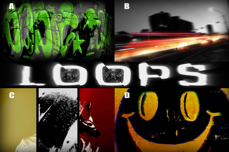 Dark Acid Green Graffiti Mix Vi - crazy_loops | ello