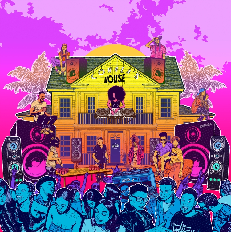 House Poster - illustration, justblack - justblack | ello