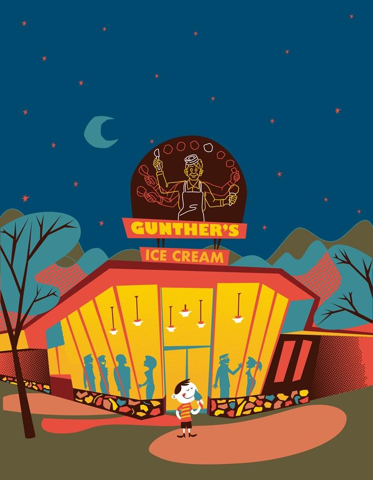 illustration Ice Cream Shop cor - apeles | ello