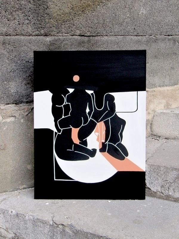 CANVAS BUILDING HUMANITY 50x70  - moonmambo | ello