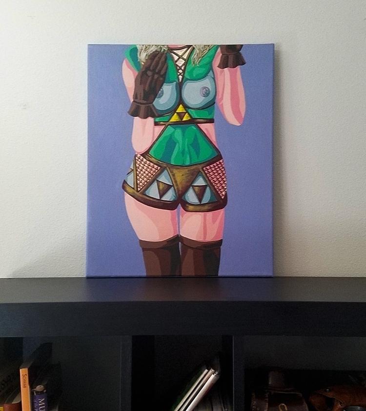 Erotic Legend - acrylic canvas - crd_larson | ello