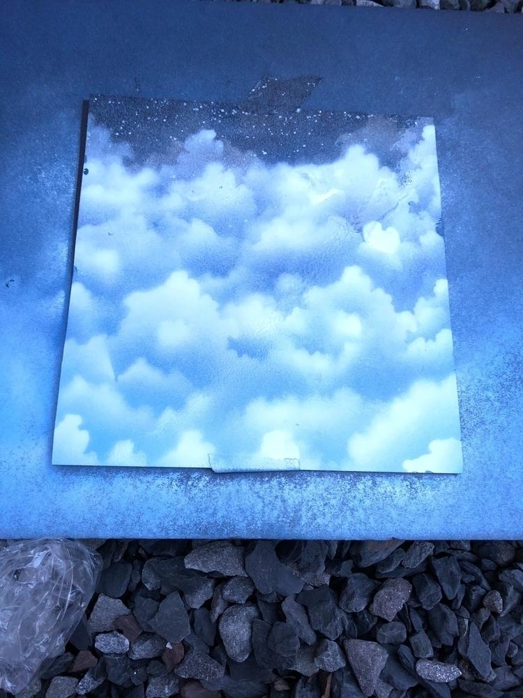 attempt clouds - art, spraypaint - fatzac   ello