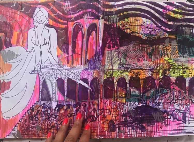 Beat sketch. internal thoughts  - crystalfischetti   ello