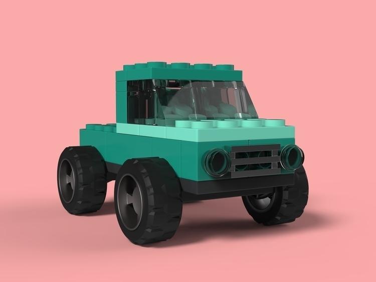 LEGO brick cars - apparentlyartsy   ello