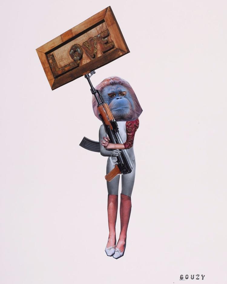 surrealist - collage, handmade, popart - gouzy   ello