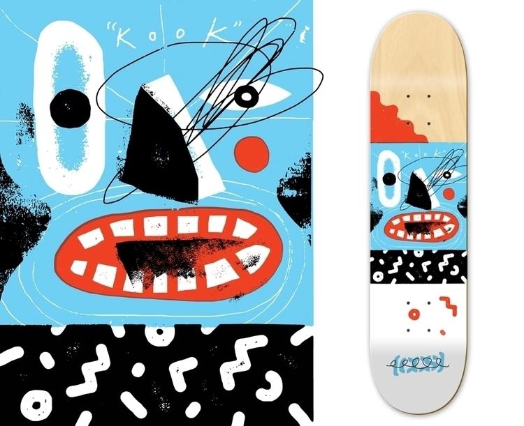 KOOK - skate, skateboard, graphic - grossillustration | ello