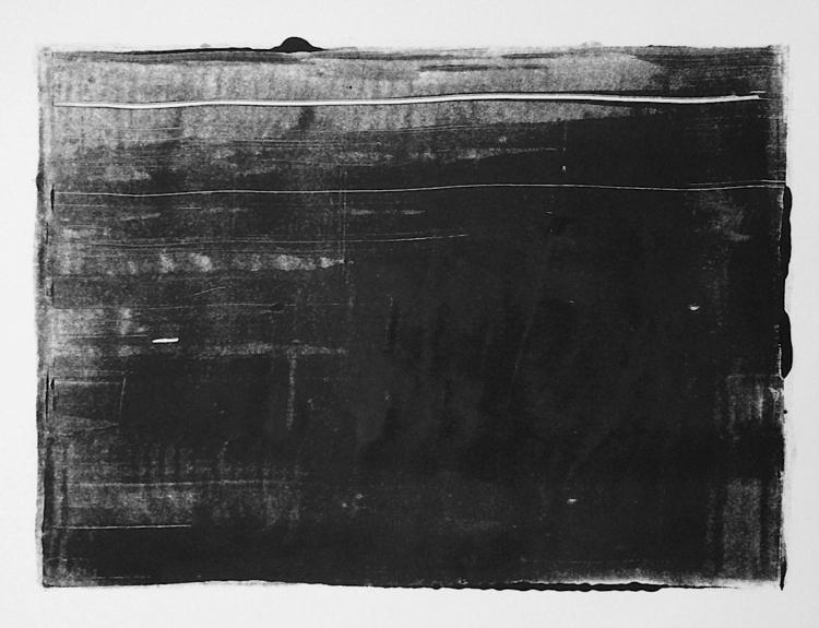 art, print, monotype, blackandwhite - mlui | ello