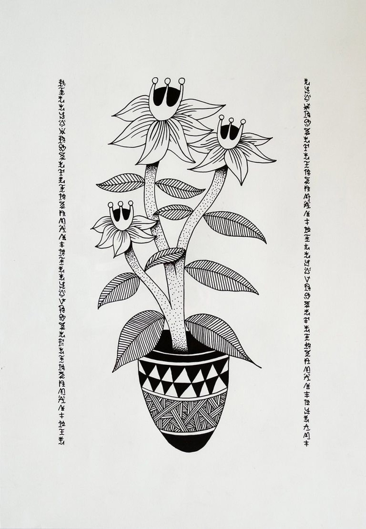 Fleurs du mal, 2016. Indian ink - kylam | ello