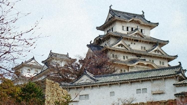 Japanese Castle. Himeji Castle  - bgdesign | ello