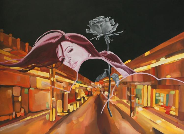 RED ROSE Acrylic / Canvas - kcontemporaryart   ello