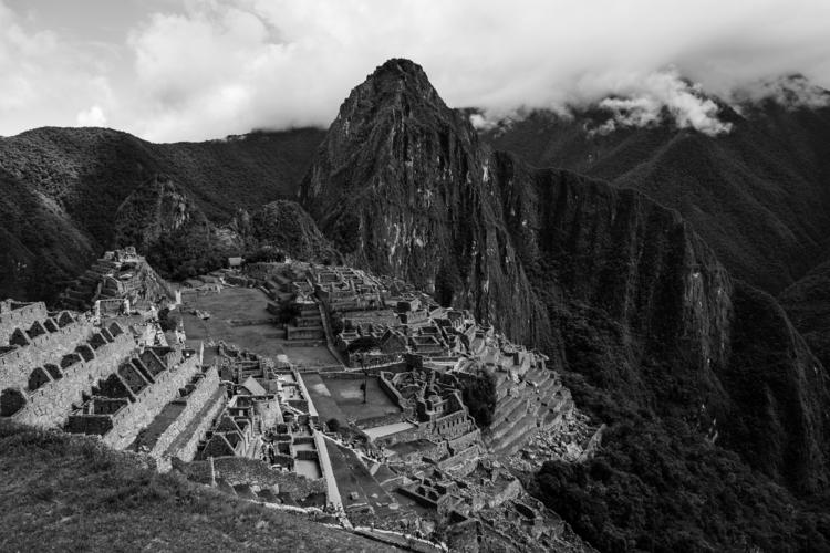 Machu Picchu - Black White - art - naebits | ello