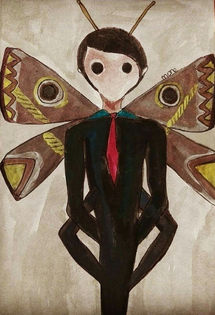 Moth Man Ink, Acrylic paper. 13 - mone_ | ello