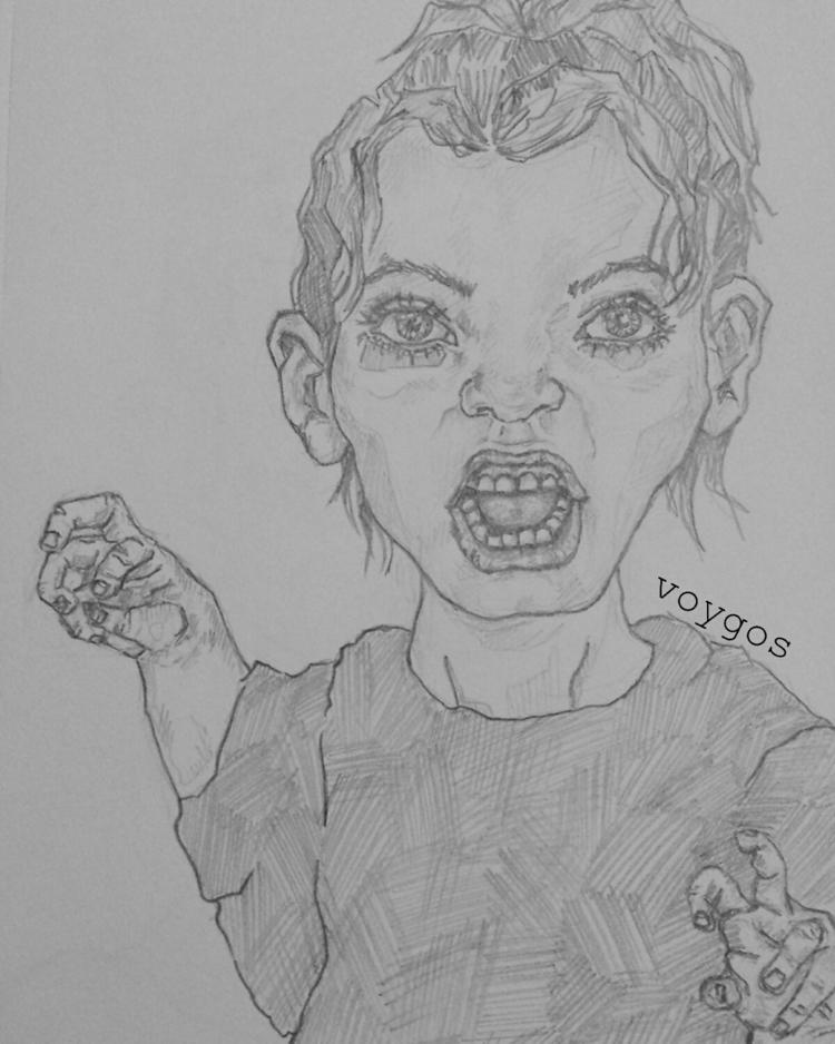 pencil drawing. check art - artist - voygos | ello