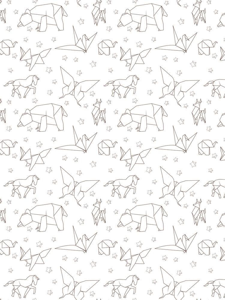 origami animals pattern created - svaeth   ello
