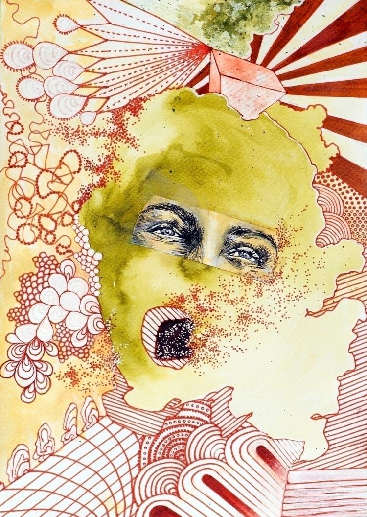 Venus Mars Kate Halloran, paint - apricotsalmondesign | ello