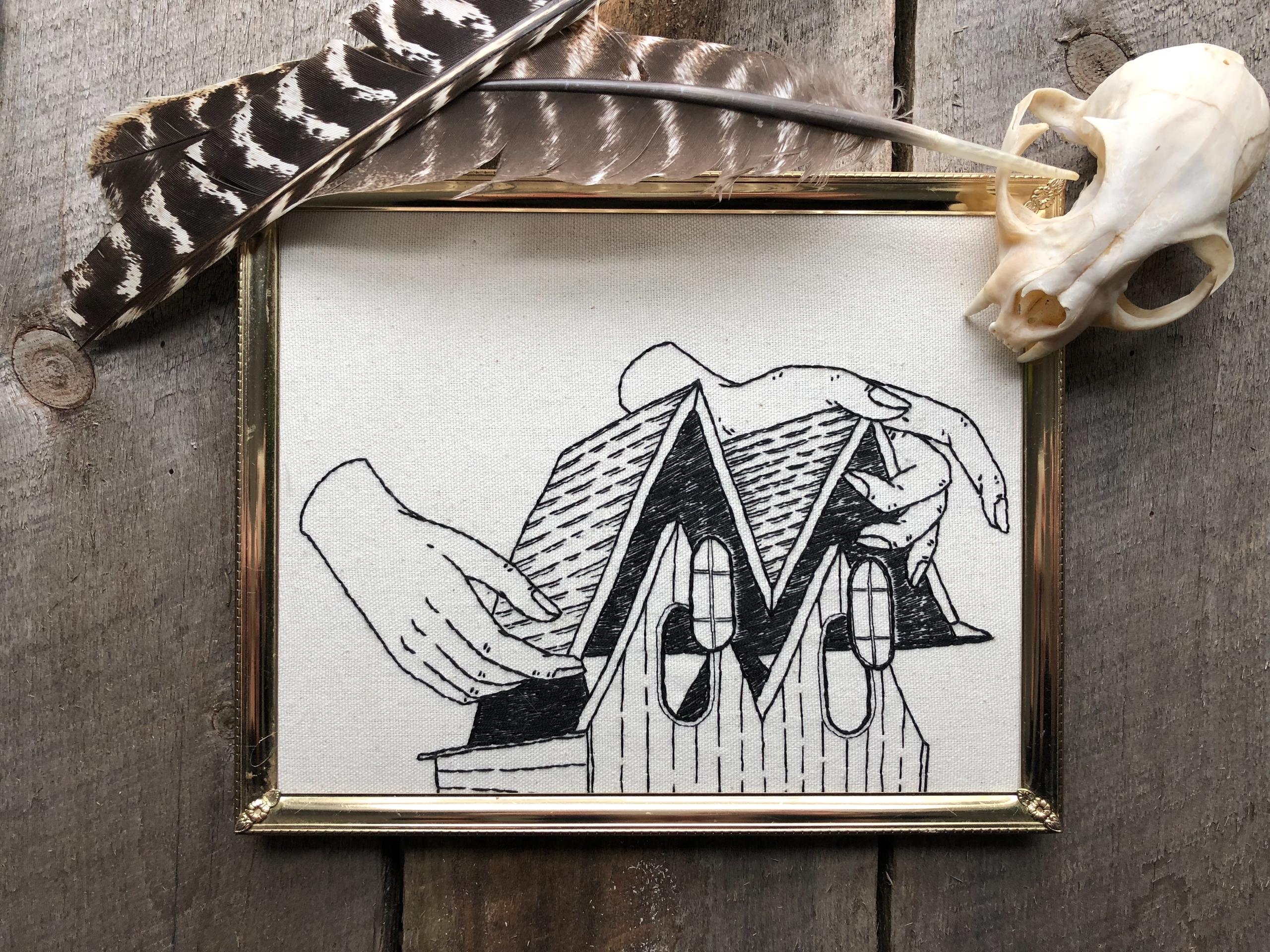 Slightly haunted - embroidery, fiberarts - spookyghoul | ello