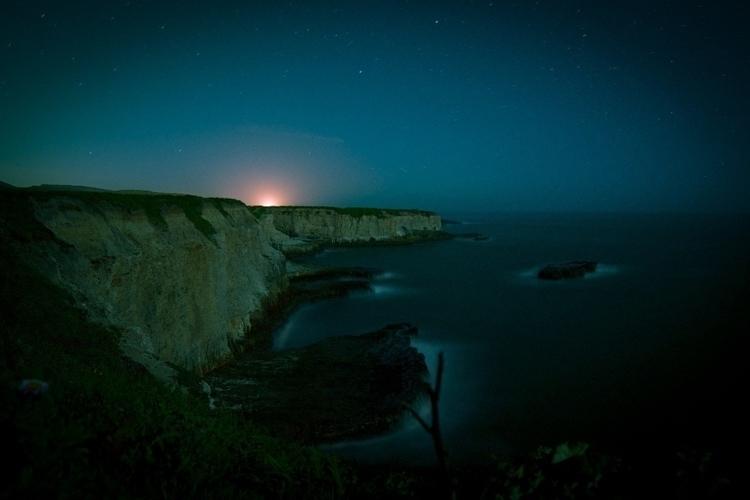 ocean, night, longexposure - chittypictures | ello