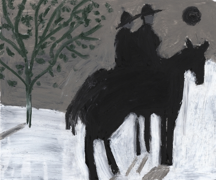horse, riders, green tree, blac - jjball | ello