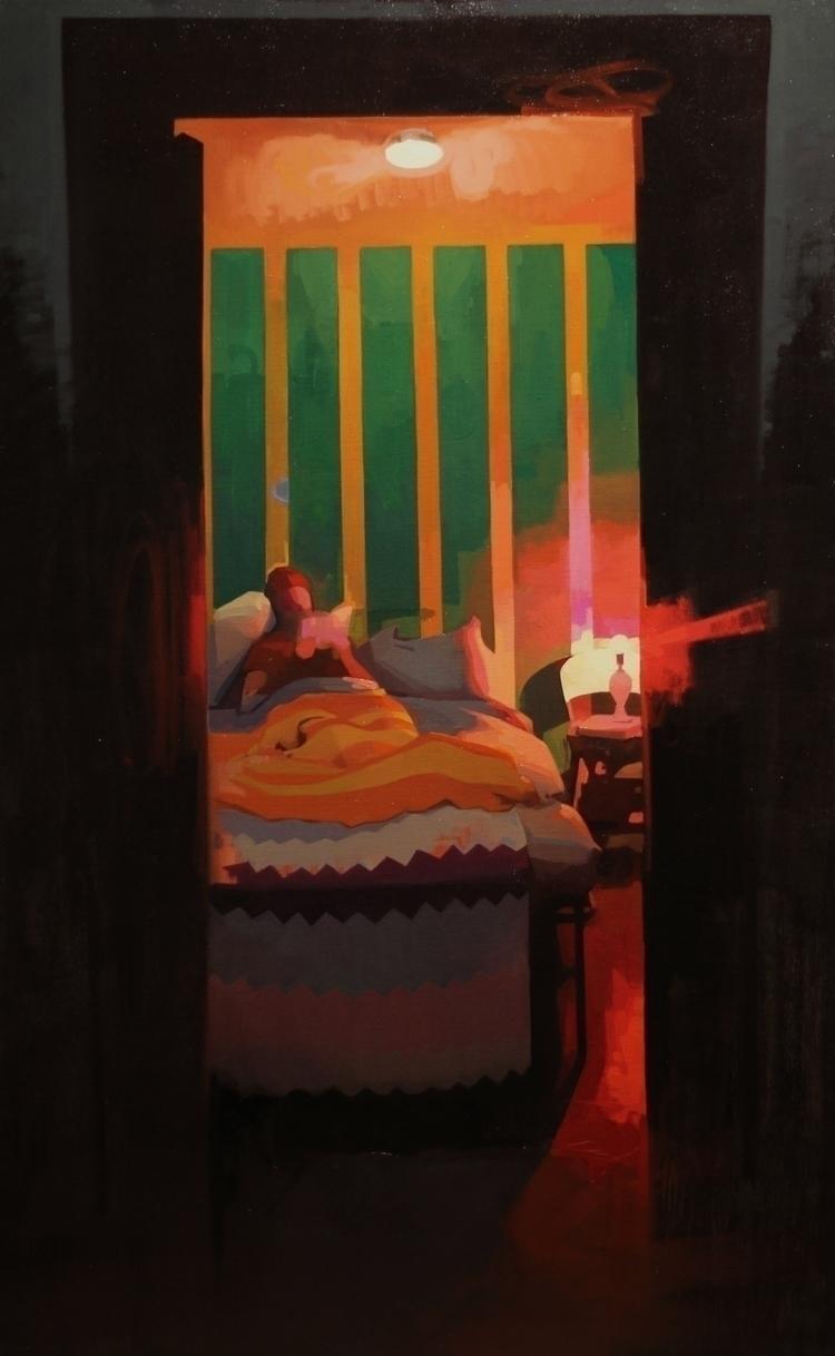 Private Eye, oil canvas 36x60 - feliciaforte - feliciaforte | ello