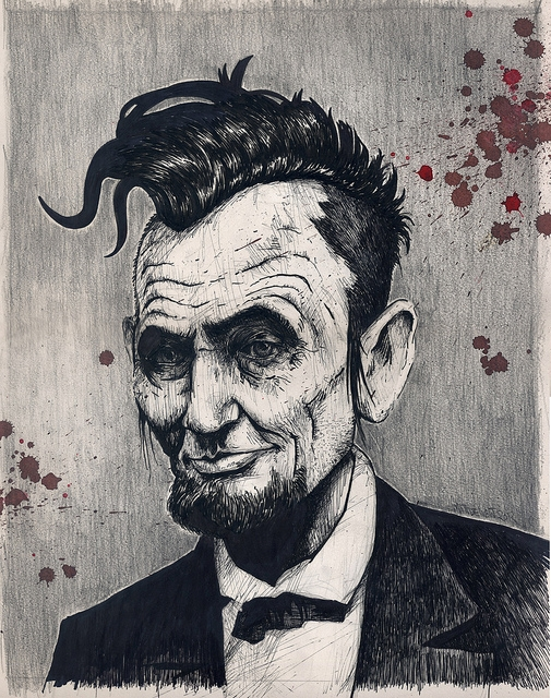 Abe Punk. sold - punk, abelincoln - garage_illustration | ello