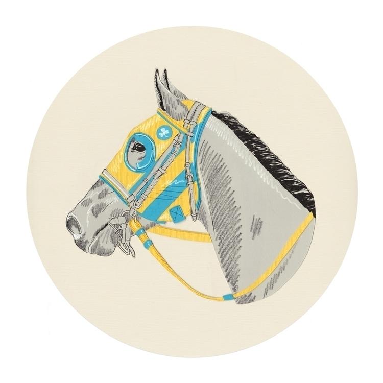 Yellow Blue Striped Blinker Hoo - thespencerhigh | ello