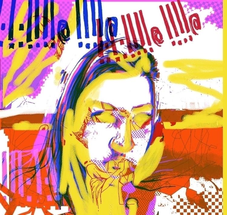 !!!!@   ink, digital - illustration - gromero   ello
