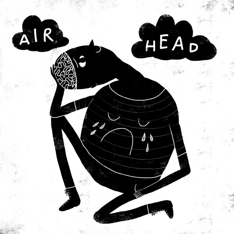 illustration, dreamer, airhead - sleepydolphin | ello
