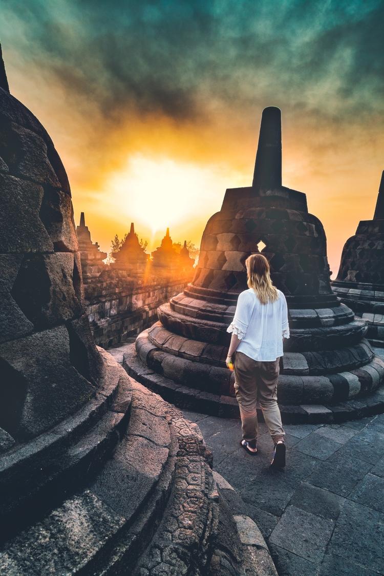 Exploring Borobudur temple unre - brandonvrvilo | ello