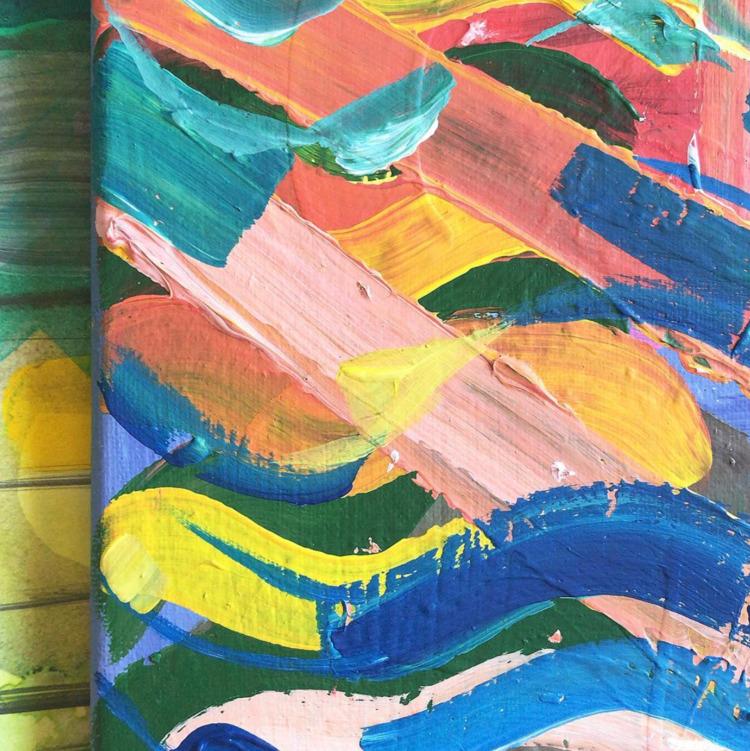 Rainbow Waves:rainbow: Acrylic  - crystalfischetti | ello
