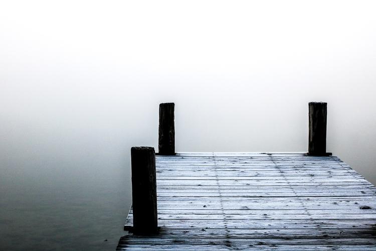 Mistiest morning Donner Lake - minimal - katherineacart | ello