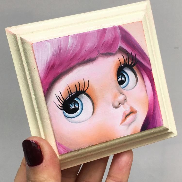 Eva oil painting wood panel big - emmamount | ello