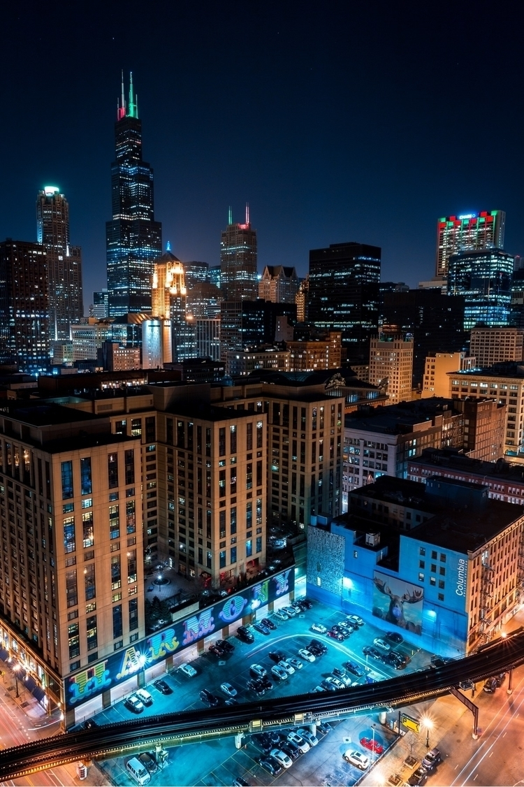 Vibrant Chicago Lights - coreycaptures | ello