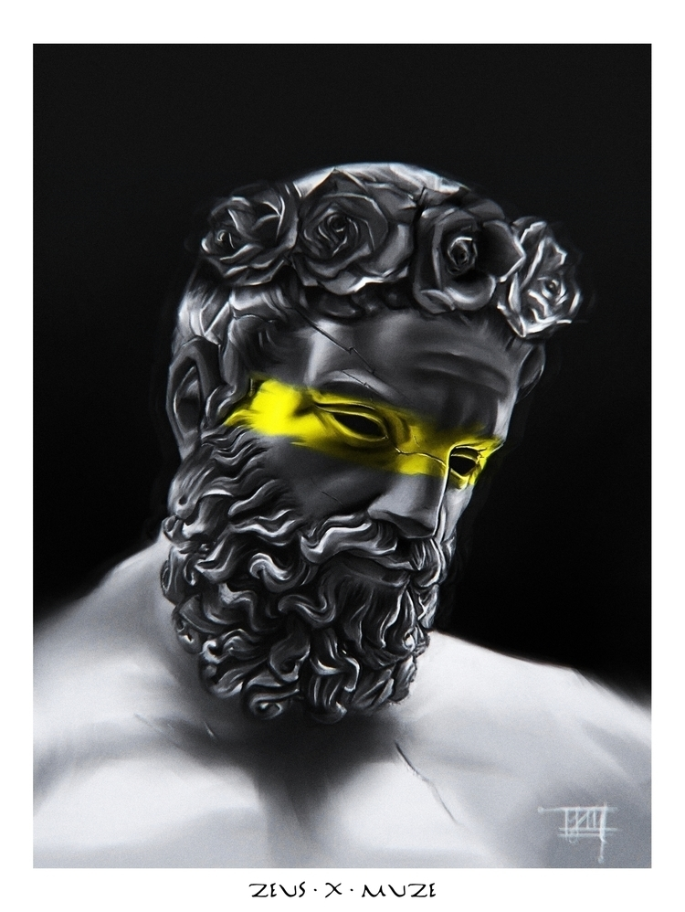 Zeus - Digital Painting. Painte - kingmuze | ello