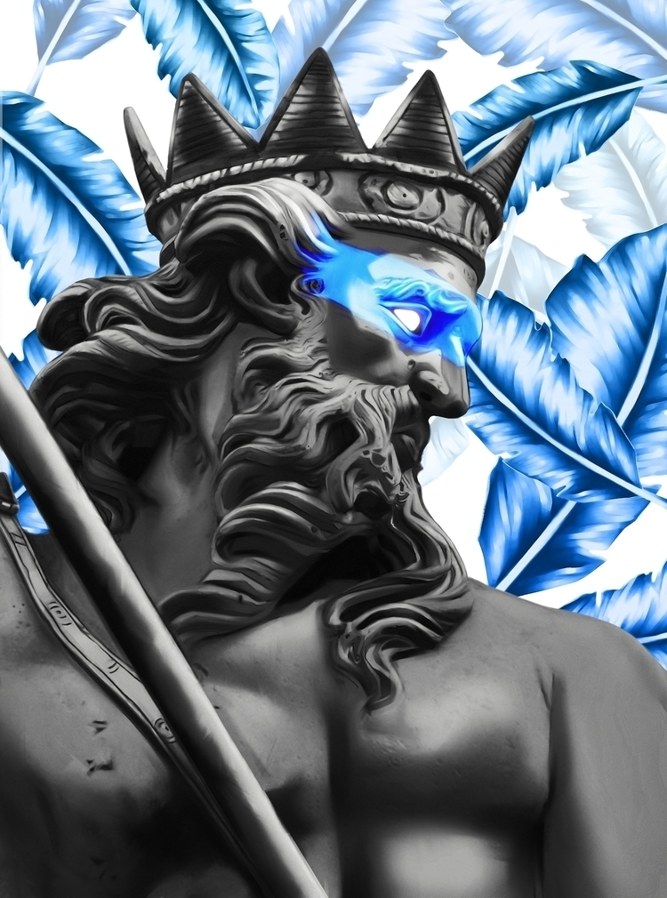 Poseidon - Digital Painting for - kingmuze | ello