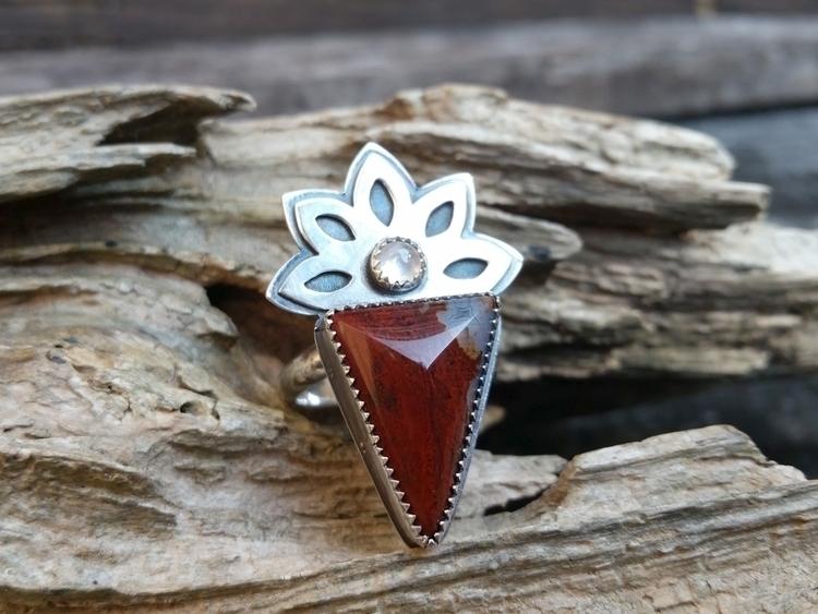 sterling silver floral ring fac - rockhound-alchemy | ello