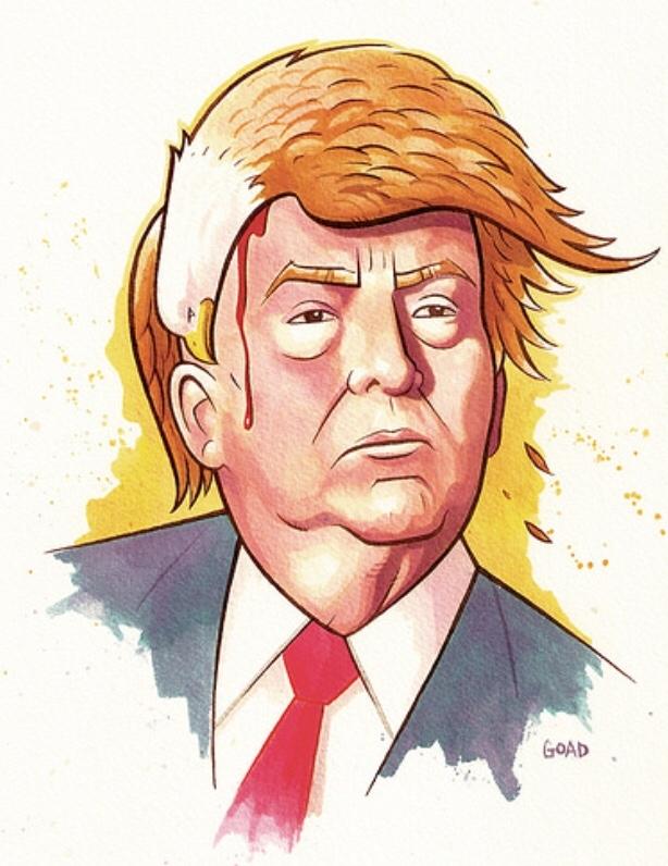 Trump America - Dr. Martins ink - vincentvangoad | ello