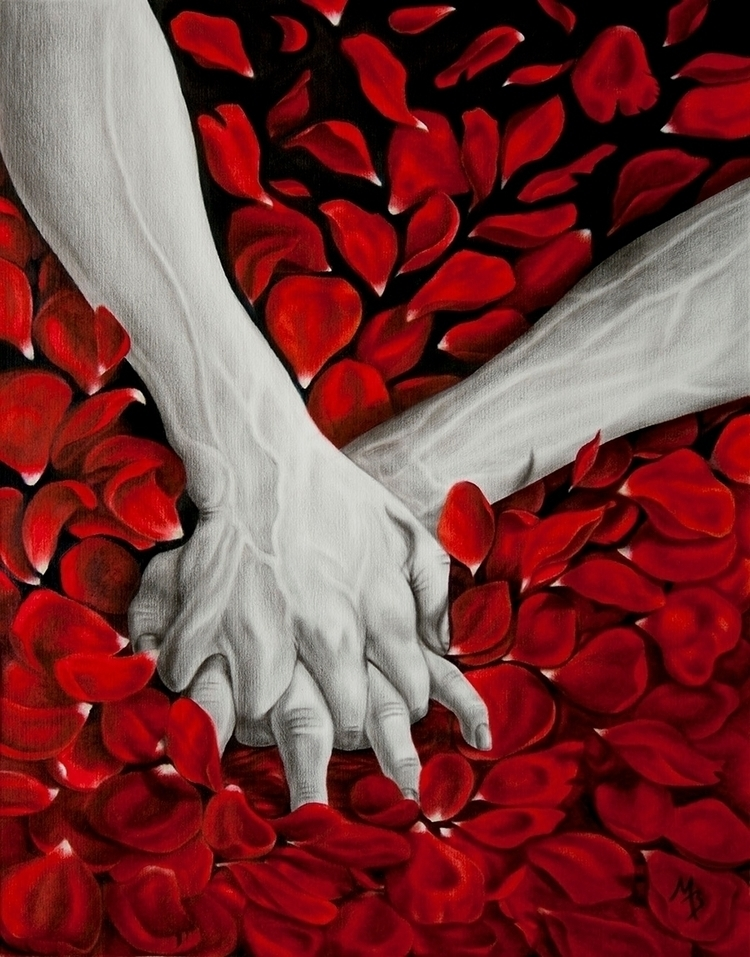 Tittle: Hands Oil canvas, size  - mariabozina | ello