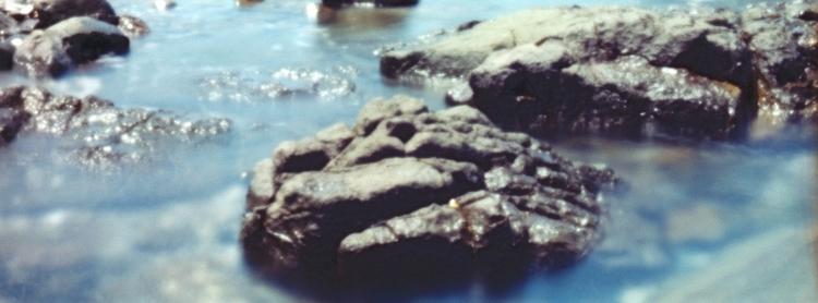 blue ...rock, Bass Point. Fuji  - peterdegraaff | ello