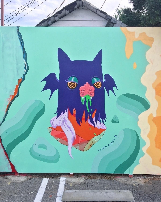 week completed mural Los Angele - bamcat | ello