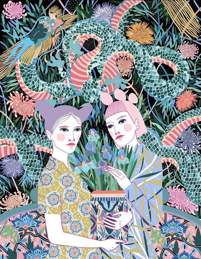 botanicals dragons, Sasha uniqu - sandraapperloo | ello