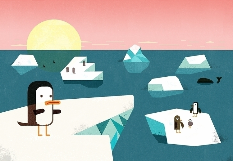 Pinguin story illustration PING - schnuppe | ello