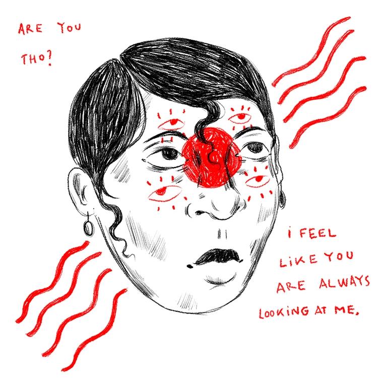 red, rot, rouge - art, illustration - elalejarg   ello