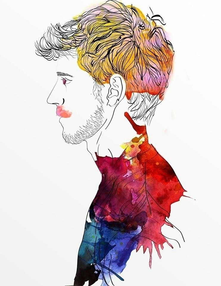 Athan follow Instagram - watercolor - pablitojsus | ello