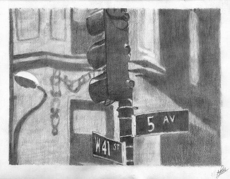 5th Ave. Graphite Paper 10x7 1 - mluna23 | ello